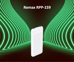پاوربانک ریمکس مدل RPP-159 با ظرفیت 10000 میلی آمپر