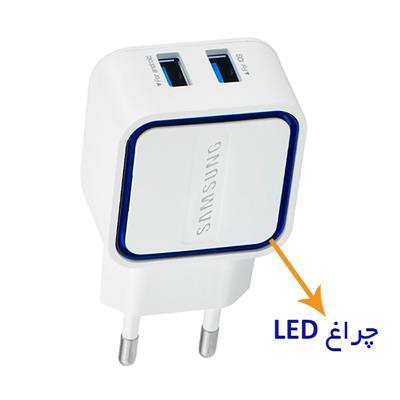 شارژر سامسونگ همراه با LED