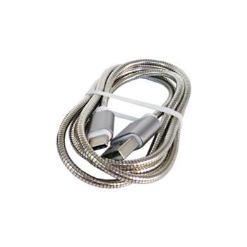 کابل شارژ فنری فلزی USB Type-C