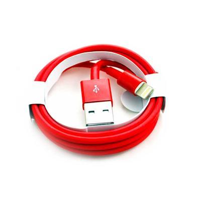 کابل USB به Lightning قرمز رنگ آیفون