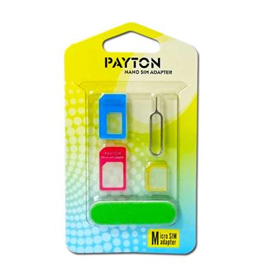 آداپتور 5 در 1  پایتون تبدیل سیم کارت های نانو و مایکرو به استاندارد